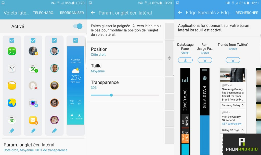 samsung galaxy s7 edge ecran lateral