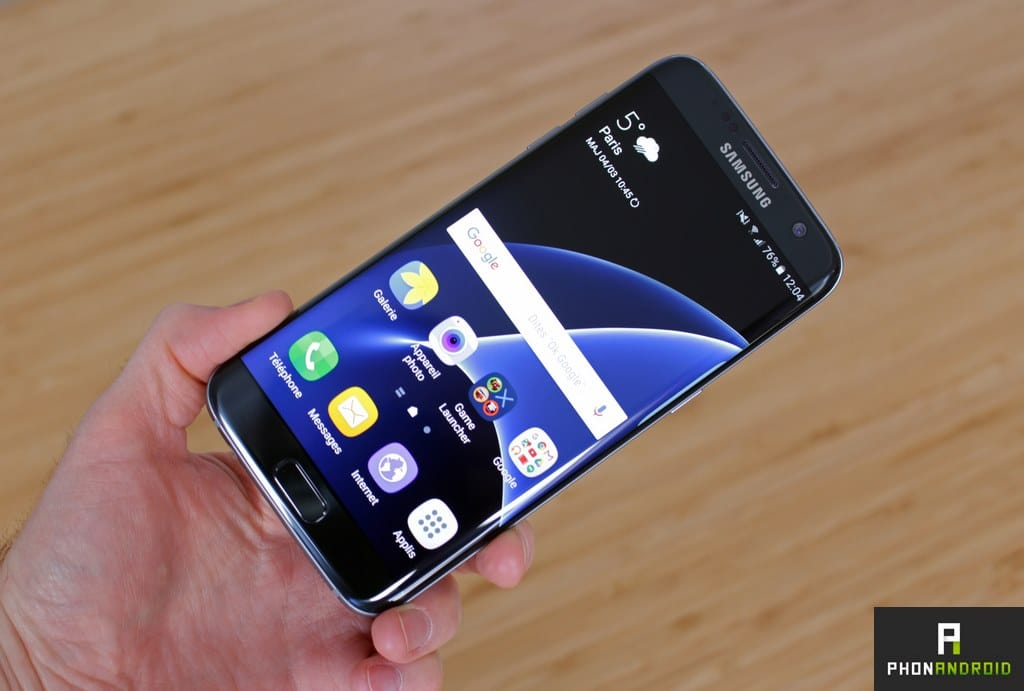 Test samsung galaxy s7 edge le smartphone qui repousse for Photo ecran galaxy s7