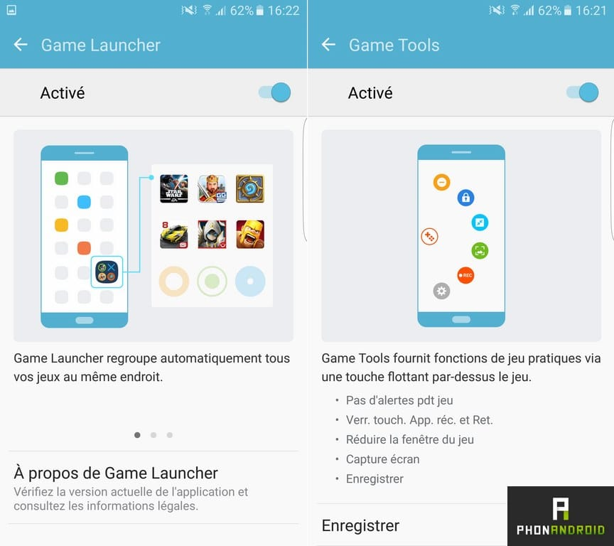 samsung galaxy s7 edge game tools