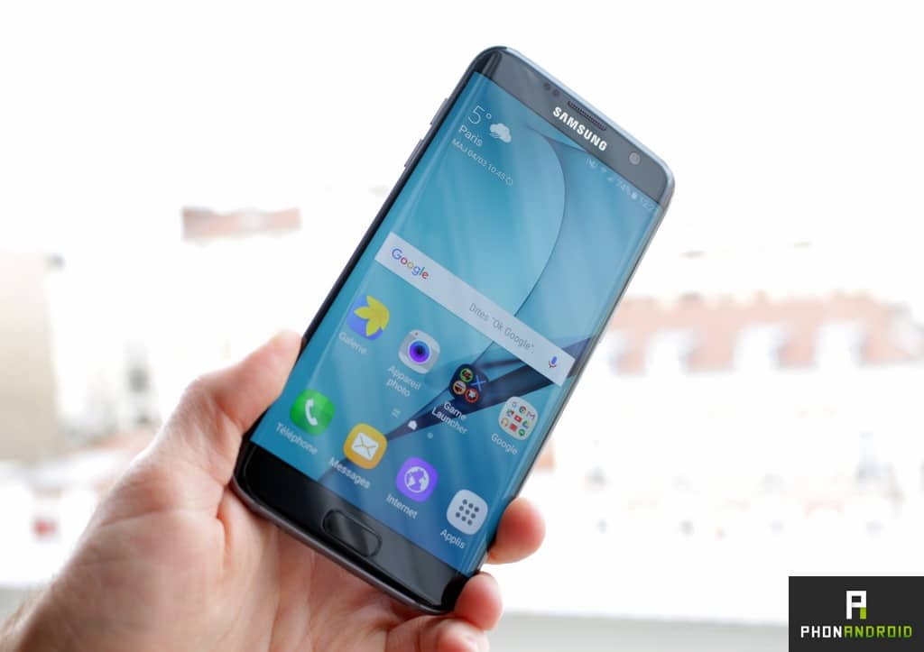 samsung galaxy s7 edge luminosite ecran