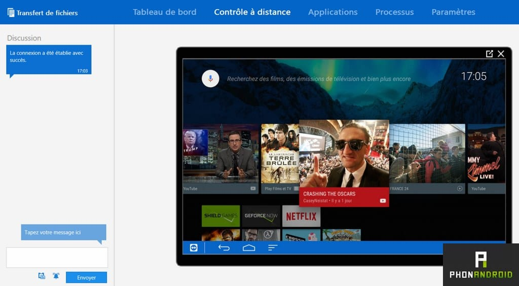 teamviewer controle distance shield android tv