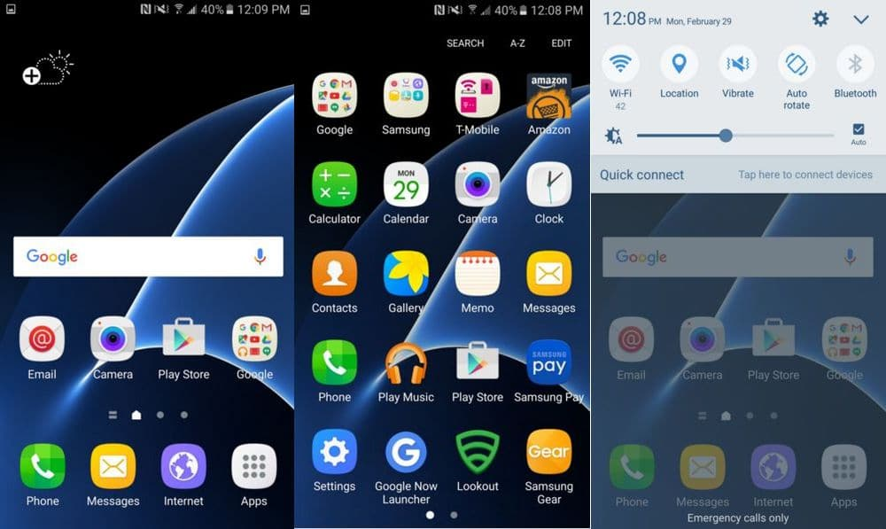 Galaxy S7 Edge touchwiz