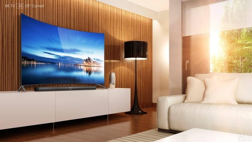 xiaomi pr sente la mi tv 3s avec son incroyable cran incurv 65 pouces. Black Bedroom Furniture Sets. Home Design Ideas