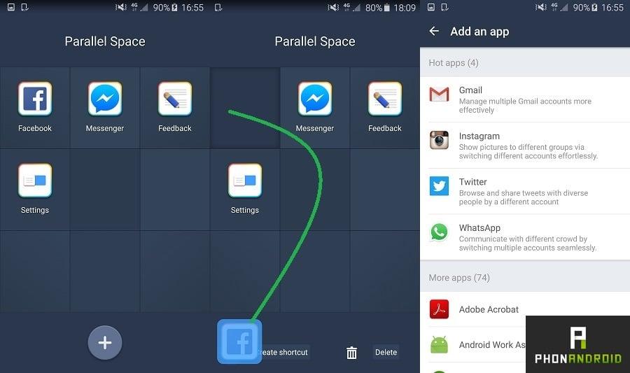 comptes multiples sur une application Android