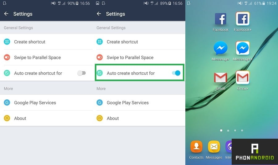 utiliser multi comptes sur une application Android
