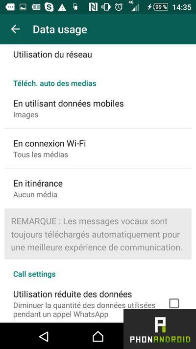 WhatsApp data usage
