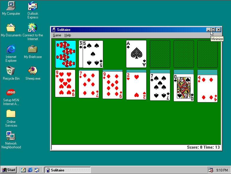 windows 98 interface