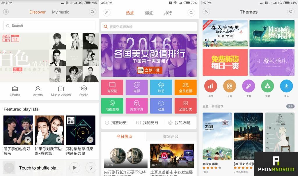 xiaomi mi5 application chinois