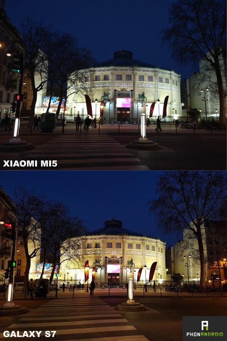 xiaomi mi5 vs galaxy s7 photo nuit