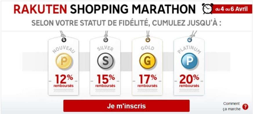 12ème rakuten shopping marathon priceminister