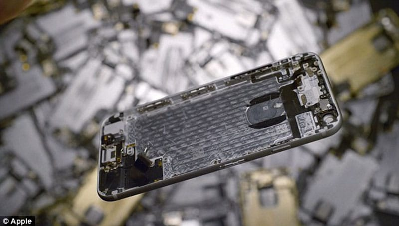 apple recyclage or 40 millions dollars