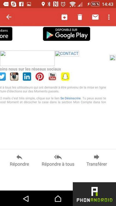 desinscrire spam