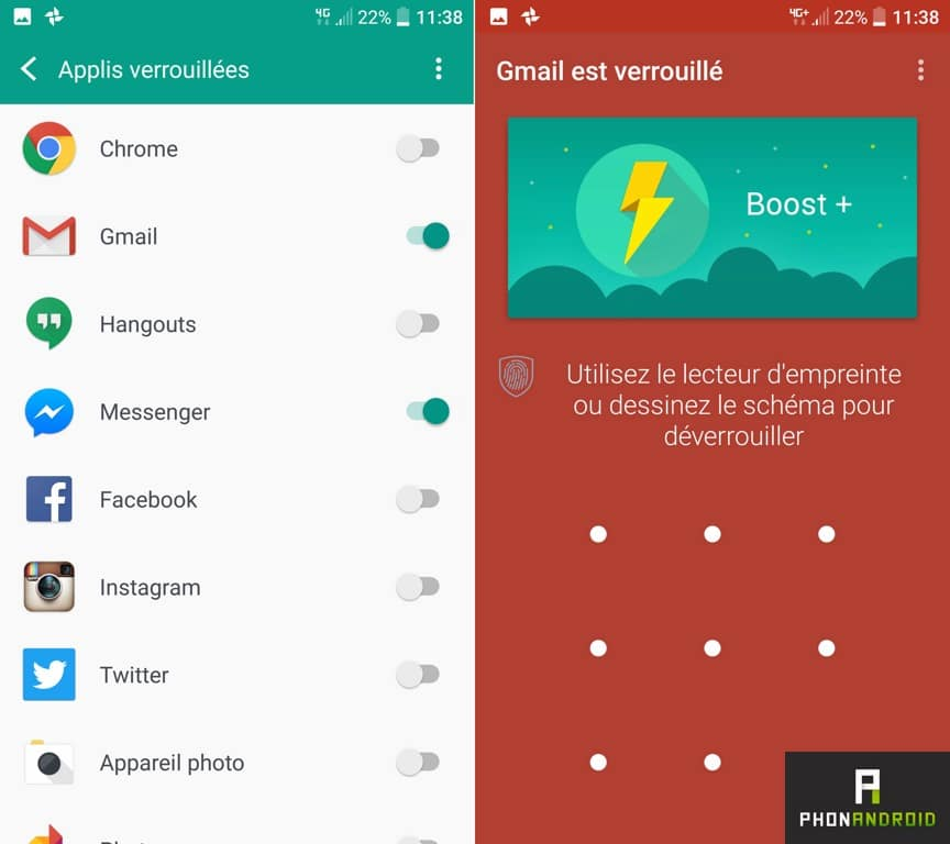 htc 10 applications verrouillees