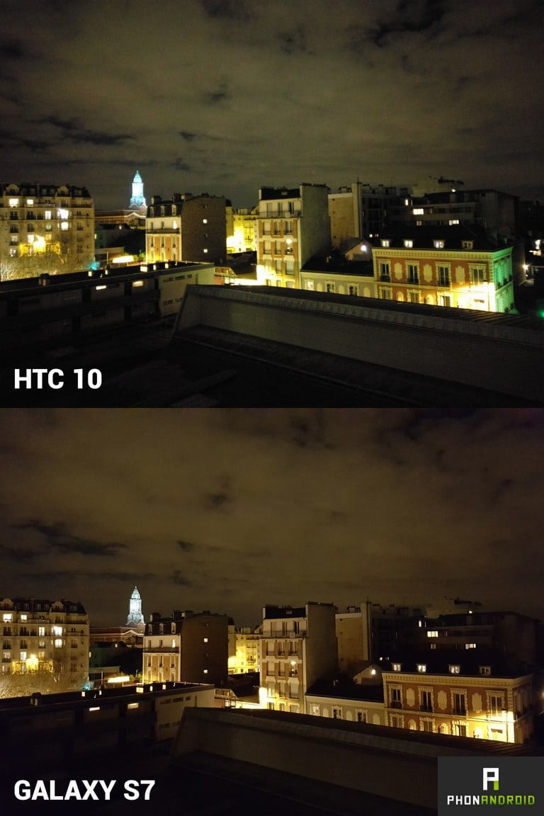htc 10 photo nuit galaxy s7