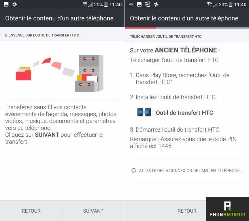 htc 10 transfert smartphone