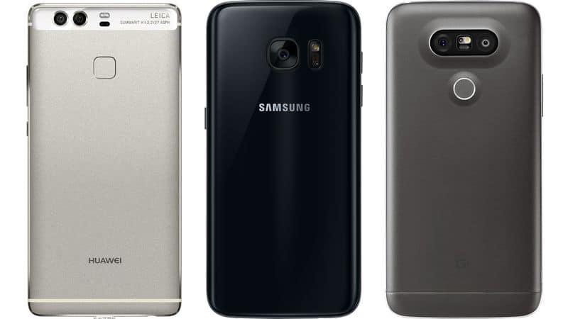 Huawei P9 Galaxy S7 LG G5