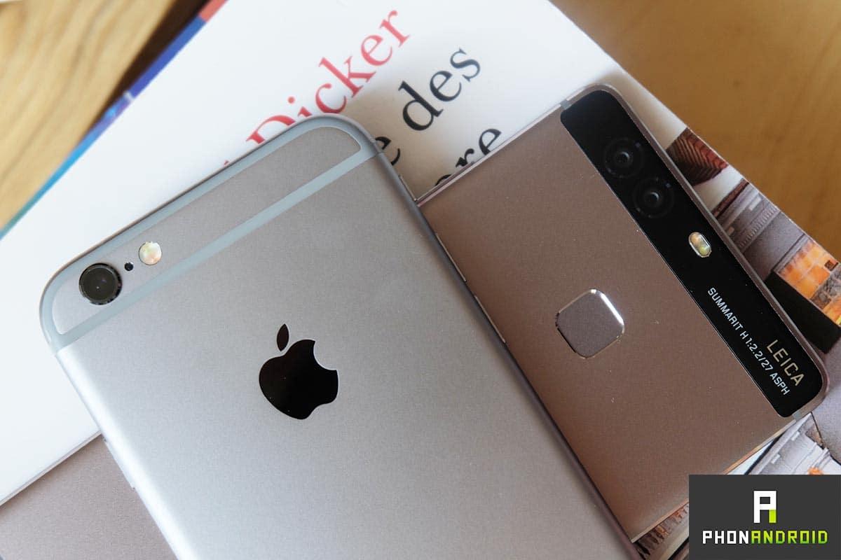 huawei p9 iphone 6s design
