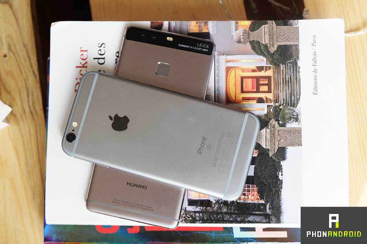 huawei p9 iphone 6s design metal