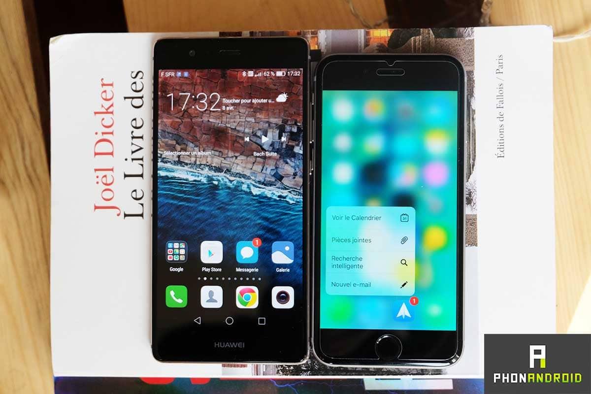 huawei p9 iphone 6s ecran 3d touch