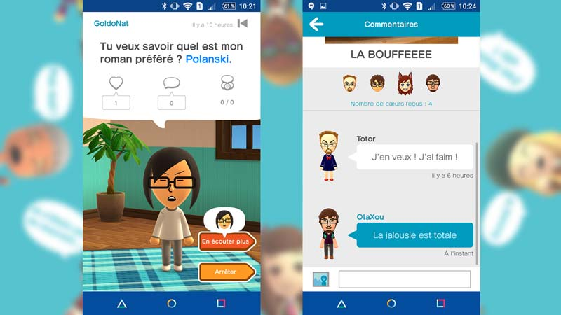 Discussions dans Miitomo