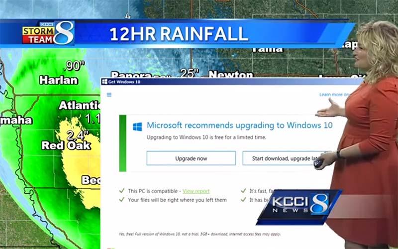 Windows 10 bulletin météo