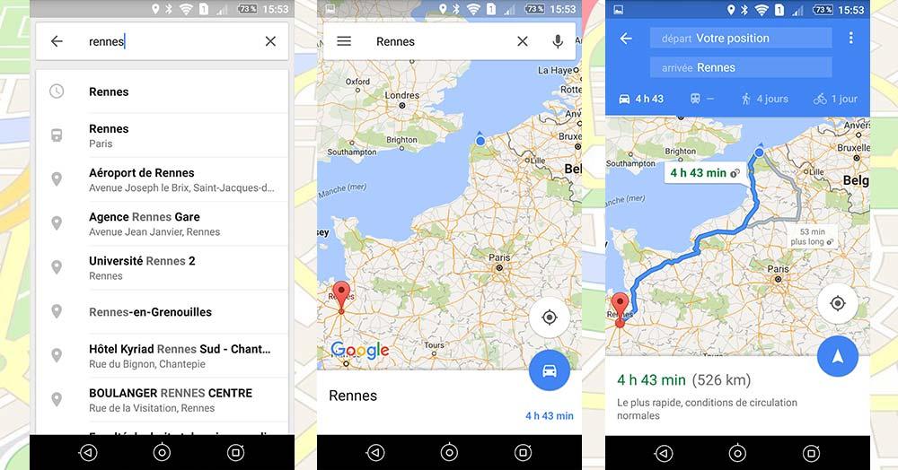navigation google maps gps