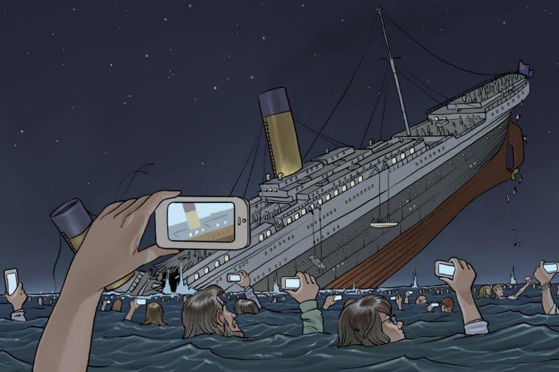 apple bateau coule