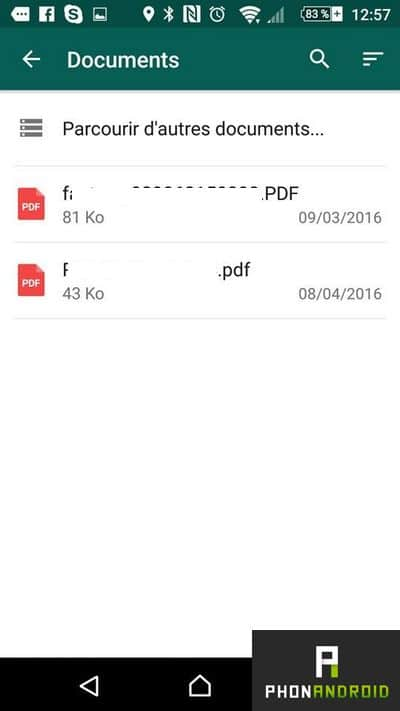 envoyer documents whatsapp