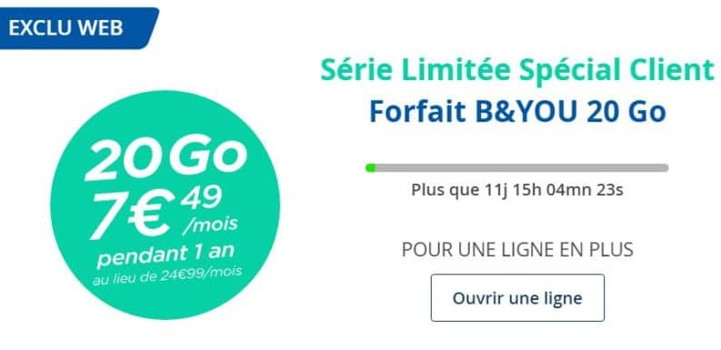 forfait b and you 20 go