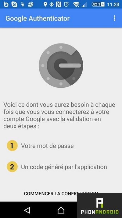 google authentification