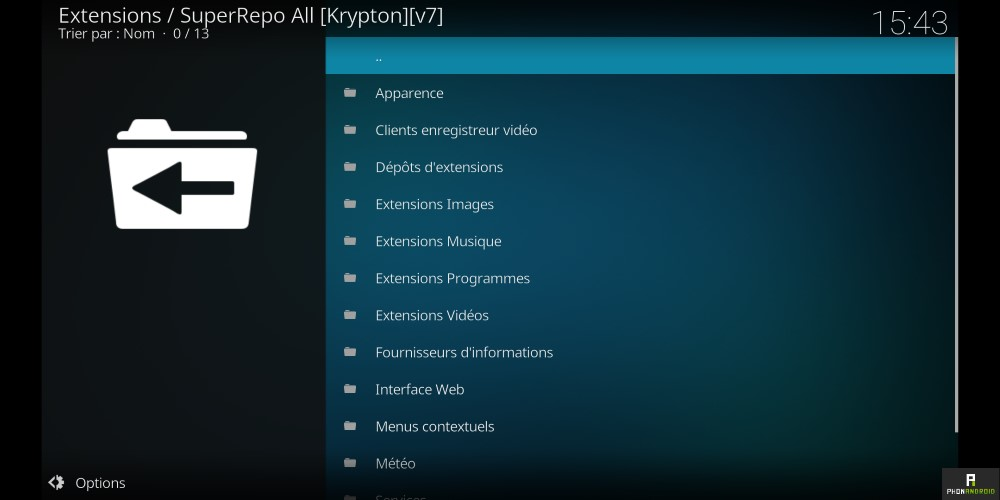 installer utiliser kodi android