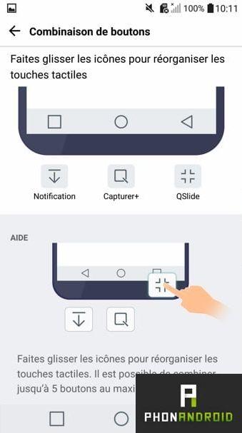 LG G5 boutons