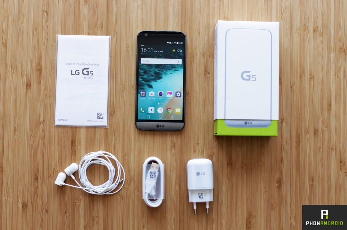 lg g5 boite packaging