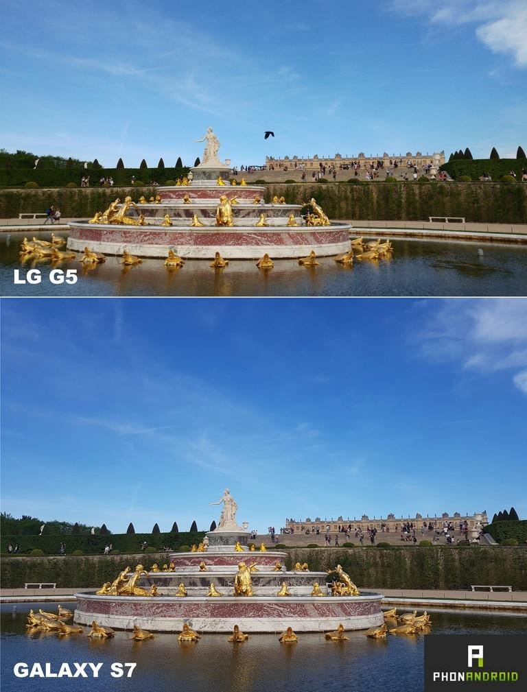 lg g5 galaxy s7 comparatif photo