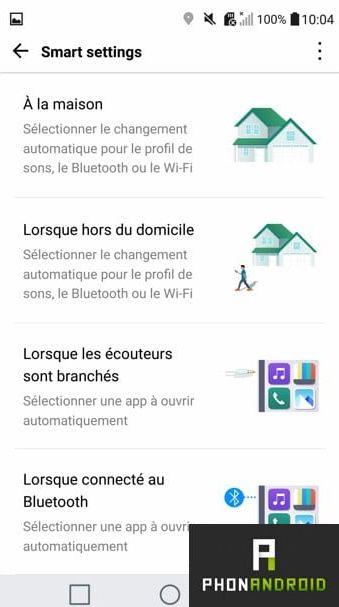 LG G5 smart settings