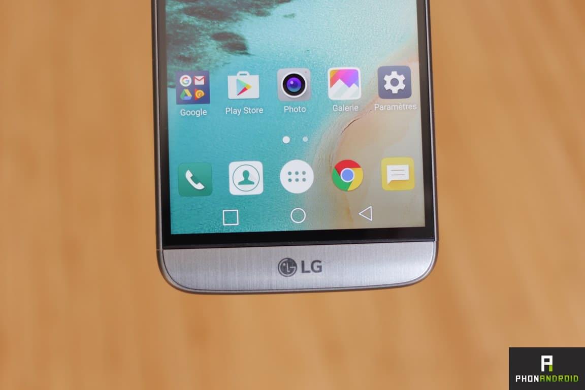 lg g5 touche tactile