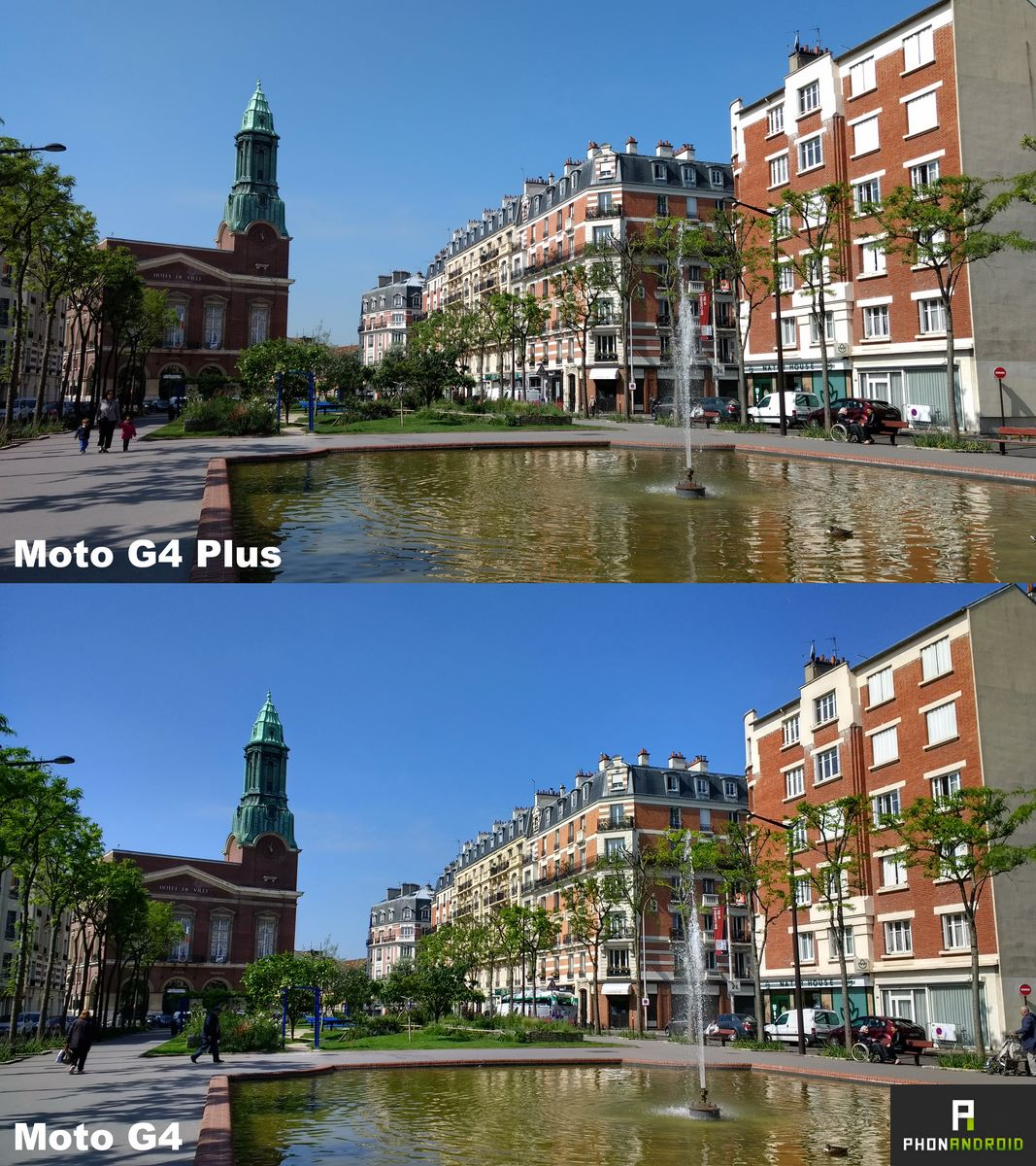 moto g4 plus photo comparative