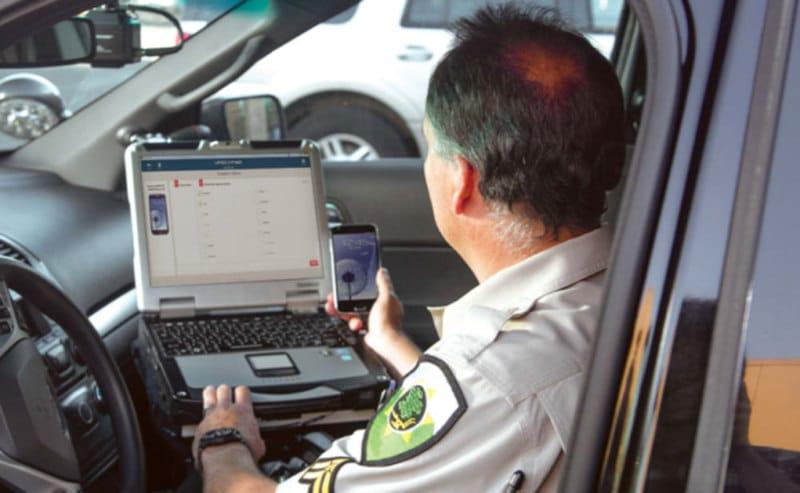 police controle permanence vitesse smartphone
