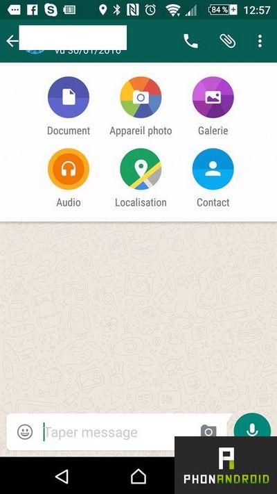 whatsapp envoyer documents