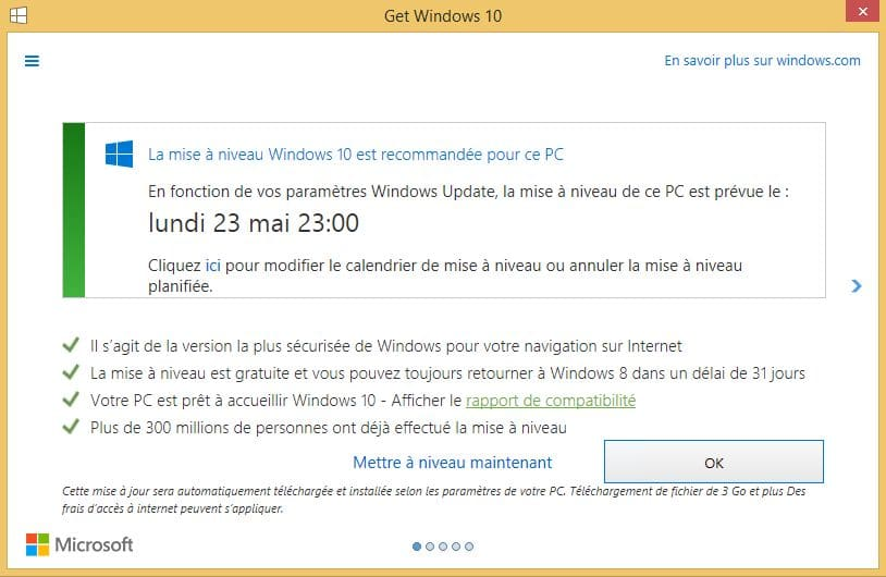 windows 10 mise a jour forcee