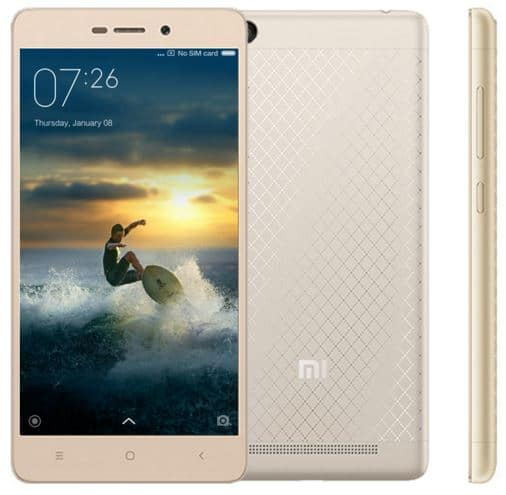 xiami redmi 3 gold