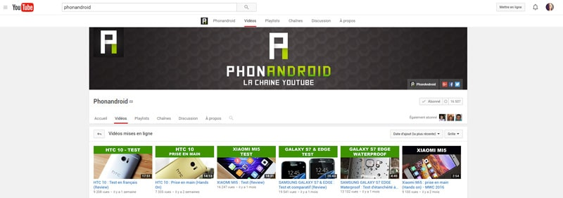 youtube phonandroid