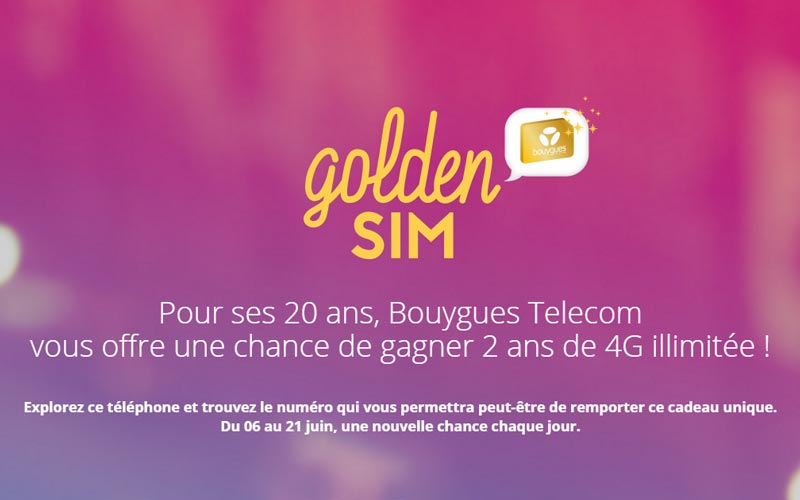 Jeu concours Golden Sim