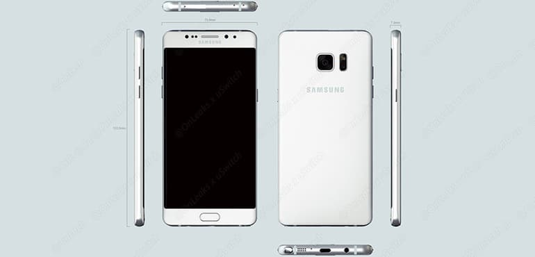 Galaxy Note 7 Edge design
