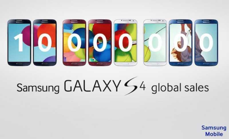 Le Galaxy S4 a dépassé les 10 millions d'unités en moins d'un mois, nouveaux coloris à venir