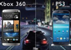 galaxy s4 htc one puissance ps3 xbox 360