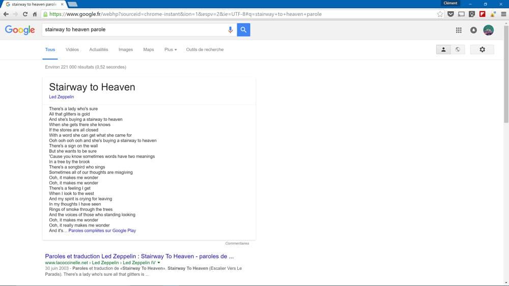 google-paroles-chansons
