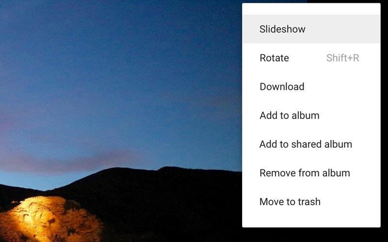 Google Photo diapo