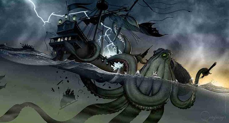 kraken google earth rocher