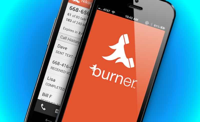 L'application Burner